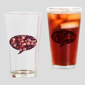 Sparkling speech box Drinking Glass