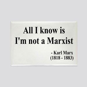 Karl Marx Text 10 Rectangle Magnet