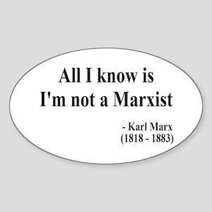 Karl Marx Text 10 Oval Sticker