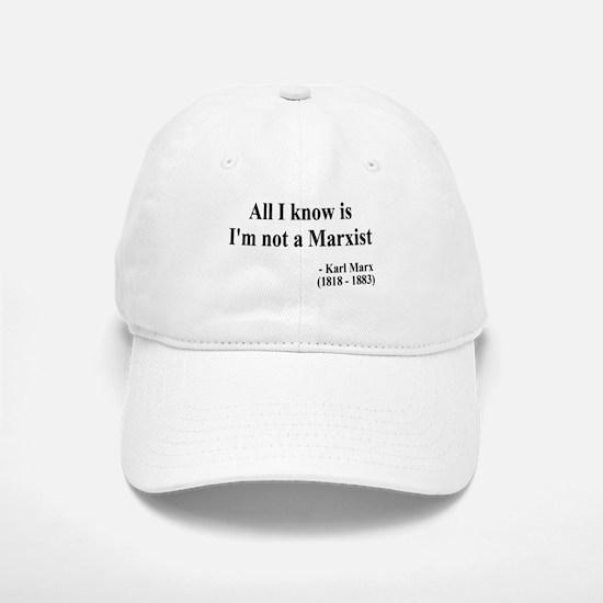 Karl Marx Text 10 Baseball Baseball Cap