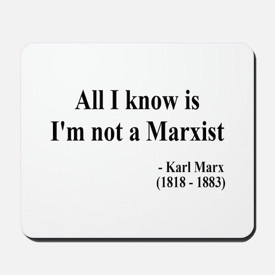 Karl Marx Text 10 Mousepad