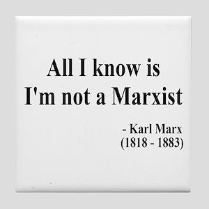 Karl Marx Text 10 Tile Coaster