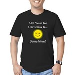 Christmas Sunshine Men's Fitted T-Shirt (dark)