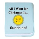 Christmas Sunshine baby blanket