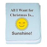 Christmas Sunshine baby blanket