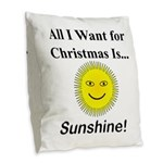 Christmas Sunshine Burlap Throw Pillow
