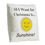 Christmas Sunshine Burlap Throw Pillow
