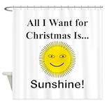 Christmas Sunshine Shower Curtain