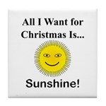 Christmas Sunshine Tile Coaster