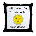 Christmas Sunshine Throw Pillow