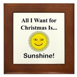 Christmas Sunshine Framed Tile
