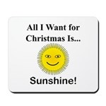 Christmas Sunshine Mousepad