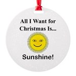 Christmas Sunshine Round Ornament