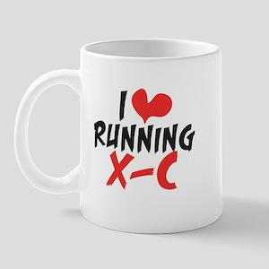 I Heart (love) Running Xc Mugs
