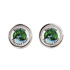 Envision Whirled Peas Round Cufflinks