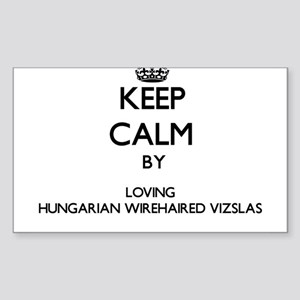 Keep calm by loving Hungarian Wirehaired V Sticker