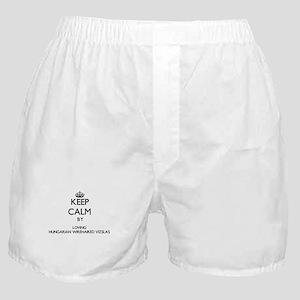 Keep calm by loving Hungarian Wirehai Boxer Shorts