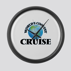 World's Coolest Cruise Large Wall Clock
