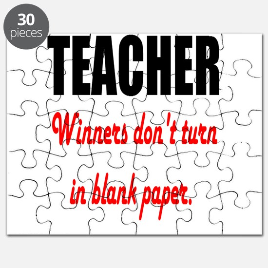 Teacher Winners Dont Turn In Blank Paper Puzzle