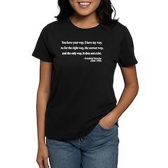 Nietzsche 1 Women's Dark T-Shirt