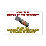 Patriarchy logic bomb Wall Decal Sticker