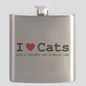 I Love Cats - But I Couldn't Eat A Whole One Flask