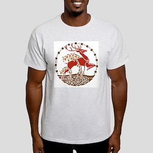 Art Nouveau Stag Ash Grey T-Shirt