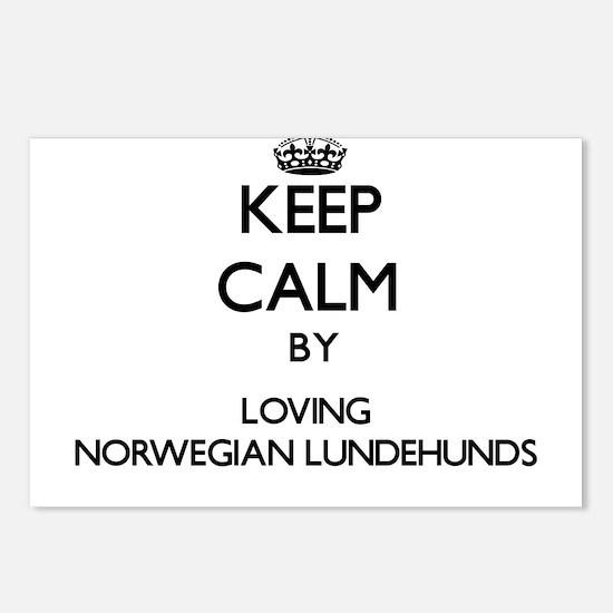 Keep calm by loving Norwe Postcards (Package of 8)