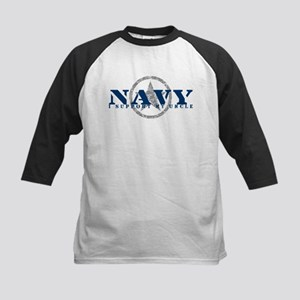 Navy - I Support My Uncle Kids Baseball Jersey