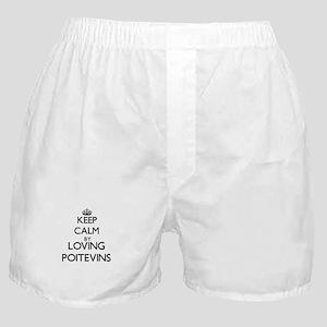 Keep calm by loving Poitevins Boxer Shorts