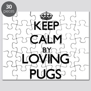 Keep calm by loving Pugs Puzzle
