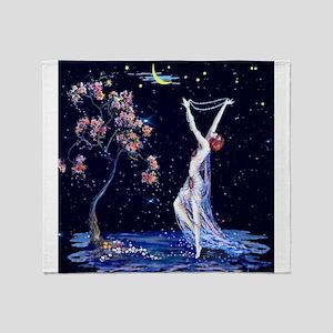Tsanya Starlight Dancer, Art Deco Throw Blanket