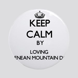 Keep calm by loving Pyrenean Moun Ornament (Round)