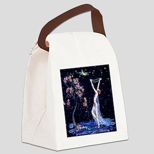 Tsanya Starlight Dancer, Art Deco Canvas Lunch Bag