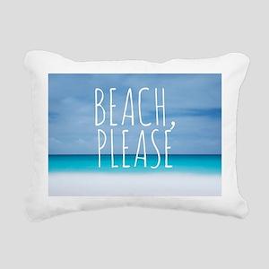 Beach please funny tropi Rectangular Canvas Pillow