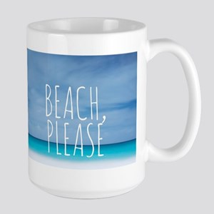 Beach please funny tropical hipster Large Mug