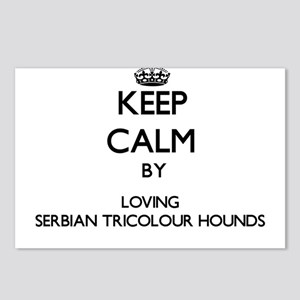 Keep calm by loving Serbi Postcards (Package of 8)
