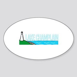 Lake Champlain Oval Sticker