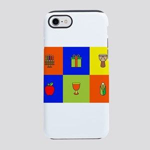 kwanzaa colorblock iPhone 7 Tough Case