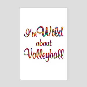 Wild About Volleyball Mini Poster Print