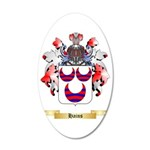 Hains 35x21 Oval Wall Decal