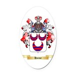 Haine Oval Car Magnet