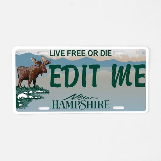 New Hampshire Moose Replica Aluminum License Plate