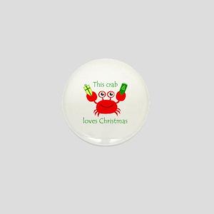 Christmas Crab Mini Button