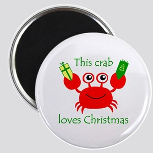 Christmas Crab Magnet