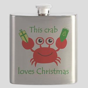 Christmas Crab Flask