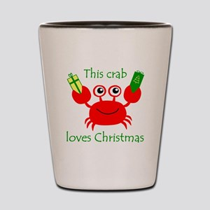 Christmas Crab Shot Glass