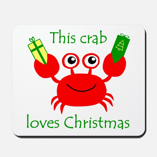 Christmas Crab Mousepad