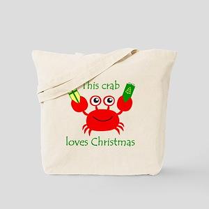 Christmas Crab Tote Bag