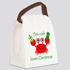 Christmas Crab Canvas Lunch Bag